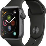 apple watch4 40mm space grey+black