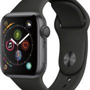 apple watch4 40mm space grey+black